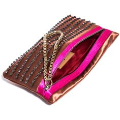 Lanvin Exposed zip embellished clutch ($704) ❤ liked on Polyvore