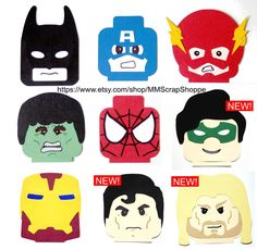 These LEGO Superhero heads are perfect for your next party or just to decorate your little superheroes bedroom! Use them on party goody bags or