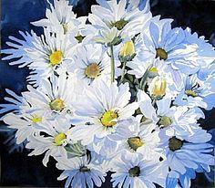 "Fresh as a Daisy by Linda Sherman Watercolor ~ 21"" x 24"""