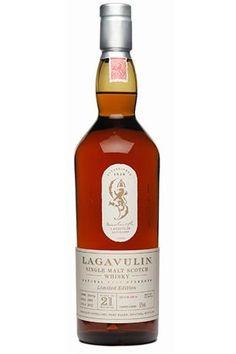 Lagavulin single malt whisky 21 year old