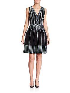 M Missoni V-Neck Paneled-Detail Dress