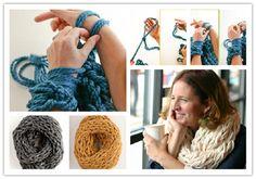Arm Knitting How to Tutorial | UsefulDIY.com Follow Us on Facebook --> https://www.facebook.com/UsefulDiy