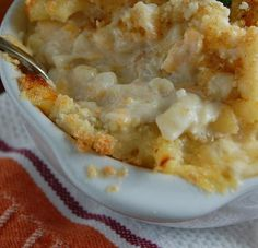 crab macaroni + cheese