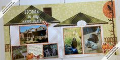 Karyn Crops | Scrapbooking Products & Inspiration / Scrapbooking Retreats & Workshops Scrapbook Sketches, Scrapbooking Layouts, Scrapbook Pages, Pumpkin Photos, Picture Layouts, Orange Paper, Photo Heart, Creative Memories, Circle Pattern