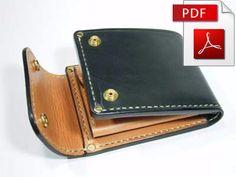 Leather short wallet pattern. PDF