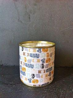 Petite bougie CAMERA originale et décorative à la cire naturelle de soja et en métal recyclé. : Luminaires par maona-bougie