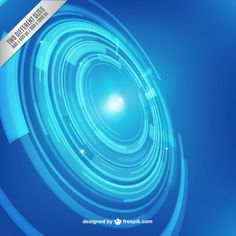 Blue Technology Background Free Vector