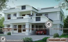 Large Collections of New 2500 Sq Ft House Plans Kerala Style Architect Design Ideas Two Story House Design, Best Modern House Design, House Front Design, Small House Design, Modern Design, Modern Contemporary, Indian House Exterior Design, Indian Home Design, Kerala House Design