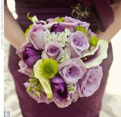 03252012 – Purple and Green Bouquet