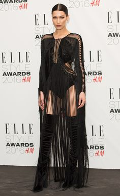 Bella Hadid: giving us fringing goals at the ELLE Style Awards 2016.
