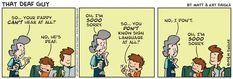 """""""That Deaf Guy"""" comic, Jan. 10, 2013 (deficit-based sympathy)"""