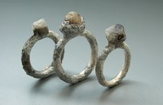 """Shipwreck"" corroded rings from the Jona Collection. Designer: Yasushi Jona (Osaka, Japan)."