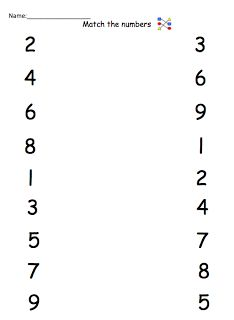 Matching numbers to numbers worksheets | Math Ideas | Pinterest ...