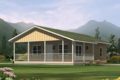 Ranch Style House Plan - 2 Beds 1.00 Baths 720 Sq/Ft Plan #57-239 Exterior - Front Elevation - Houseplans.com