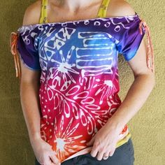 Crafty Chica shows you how to use clear gel Tacky Glue to make this super cute tribal-inspired top!