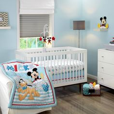 MICKEY MOUSE Let's Go Mickey 3-Piece Crib Set