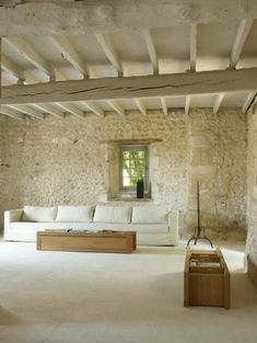 57 Exposed stone wall ideas for a modern interior Interior Architecture, Interior And Exterior, Interior Design, Stone Interior, Natural Modern Interior, Style At Home, Loft Stil, Style Loft, Stone Houses