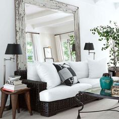 Interior Designers use mirrors to trick the eye. They can make a small room look big. One of my…