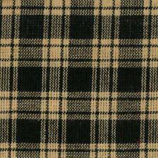 Black & Natural Plaid Primitive Cotton Homespun Fabric by the yard - new bolt!