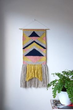 Woven wall hanging / tapestry / unique weaving / by Lepetitmoose