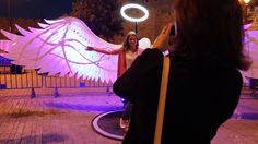 """Great Light and Social Sculpture by OGE Group in Jérusalem !  How to reveal 38500 angels in 9 days of festival?  Here's the answer: we installed our 5 social sculptures so people could take selfies and photos of each other and send them to a person they love: From Jerusalem, with Love! (this video is accompanied by Zach Sobiech's amazing song: """"Clouds"""")"""