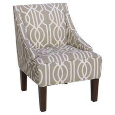 Skyline Furniture Swoop Arm Chair - Deco Slate - 72-1DCSLT