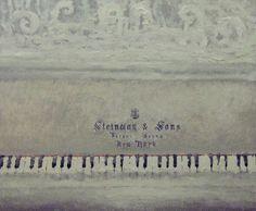 """Steinway"" by Rutin Alex Autumn In New York, Gray Matters, My Muse, Artist Life, Art For Art Sake, Office Art, Texture Art, Art Music, Music Is Life"