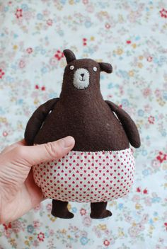 Bear Toy for little Vera Crochet Teddy Bear Pattern, Plush Pattern, Softies, Toddler Girl Gifts, Handmade Soft Toys, Little Presents, Teddy Bear Toys, Bear Doll, Sewing Toys