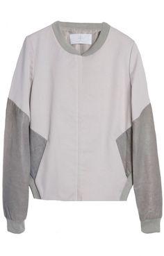 Thakoon Addition Leather Sleeved Jacket @ 25Park.com