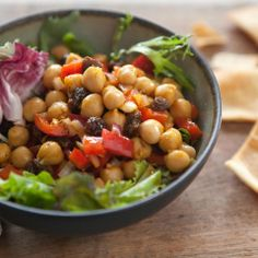 Whole Foods Market  A delicious vegan dish that's loaded with traditional Indian spices! chick pea salad  Please go to www.wedigfood.com to write reviews of #vegan, #vegetarian and/or #sustainable #seafood