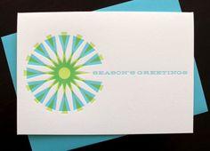 Anemone Letterpress Mod Holiday Card  www.anemoneletterpress.com