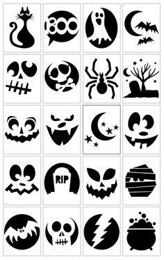 20 Awesome Pumpkin Carving Templates- I need all the help I can get.  I stink at it!                                                                                                                                                                                 More