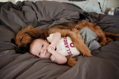 cute dogs with cute babies pictures