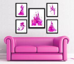 Pink Princess print Disney princess princess set Princess