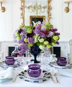 Purple Table Setting and Presentations