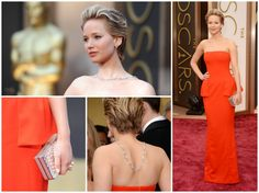 Jennifer Lawrence on the red carpet at the Oscars
