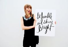 Be Humble & Shine Bright 18x24 Inspirational Art Print