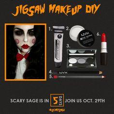 Jigsaw Makeup Tutorial