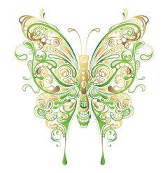 Art abstrait de papillon Floral Vector