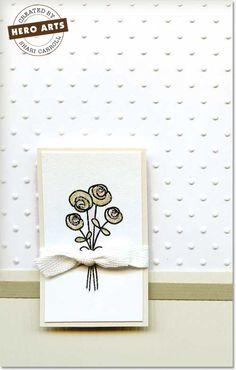 Hero Arts Cardmaking Idea: Wedding Flowers