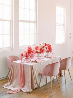 Nothing we love more than colorful wedding ideas! And this microwedding inspiration with layers upon layers of pink is a color lovers dream. With cloud-like floral installations and velvet table linens, botanical headpieces and sexy bridal fashion, these intimate wedding ideas will have you smiling from ear to ear in no time. See the full inspo on Ruffled now! #microweddingideas #fuchsiawedding #floralinstallations Intimate Weddings, Blush Weddings, Wedding Colors, Floral Wedding, Wedding Ideas, Tall Table, Dark Blue Green, Wedding Reception Centerpieces, Floral Headpiece