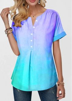 Shop Womens Fashion Tops, Blouses, T Shirts, Knitwear Online Trendy Tops For Women, Blouses For Women, Women's Blouses, Textiles, Ladies Dress Design, Short Sleeve Blouse, Knitwear, Casual Outfits, Tunic Tops