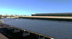 Solar Panel-covered Car Park, Sydney Markets Flemington, NSW, Australia   KYOCERA Solar