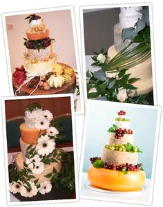 These cakes are made of CHEESE! not my favorite cake but still a cool idea!