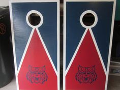 New Arizona Wildcats Cornhole Decals - Ready To Apply 5 Year Outdoor Vinyl