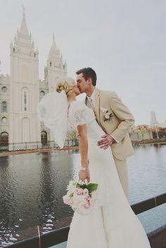 The Perfect Dress: Our Bride London Temple Wedding, Dream Wedding, When I Get Married, Marrying My Best Friend, Utah Wedding Photographers, Wedding Pictures, Wedding Ideas, Wedding Bells, Bride Groom