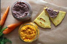 """Naše obľúbené: mrkvový a fazuľový """"hummus"""" so soccou"""