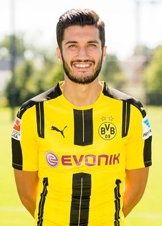 Dortmund's Nuri Sahin poses during the team presentation of Borussia Dortmund on August 17 2016 in Dortmund Germany