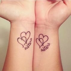nice Friend Tattoos - Imagem de sisters, tattoo, and heart... Check more at http://tattooviral.com/friend-tattoos/friend-tattoos-imagem-de-sisters-tattoo-and-heart/