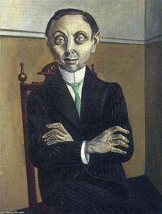 portrait de paul f. `schmidt` - (Otto Dix)